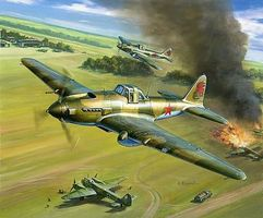Zvezda IL2 Mod 1941 Stormovik Fighter (Snap) Plastic Model Airplane Kit 1/144 Scale #6125