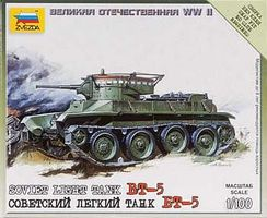 Zvezda Soviet Tank BT-5 Plastic Model Tank Kit 1/100 Scale #6129