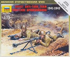 Zvezda Soviet Anti-Tank Team Plastic Model Military Figure 1/72 Scale #6135