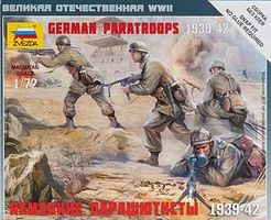 Zvezda German Paratroops Plastic Model Military Figure 1/72 Scale #6136