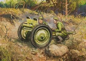 Zvezda Soviet 76mm Infantry Gun w/2 Crew Plastic Model Military Vehicle Kit 1/72 Scale #6145