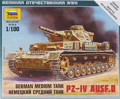 Zvezda Pz IV Ausf.D Plastic Model Tank Kit 1/100 Scale #6151