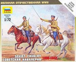 Zvezda Soviet Cavalry WWII Snap Kit Plastic Model Military Figure 1/72 Scale #6161