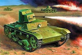 Zvezda Soviet Flamethrower Tank T-26 Snap Kit Plastic Model Tank Kit 1/100 Scale #6165