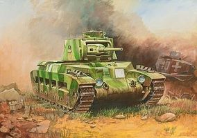 Zvezda Matilda II British WWII Medium Tank Plastic Model Tank Kit 1/100 Scale #6171