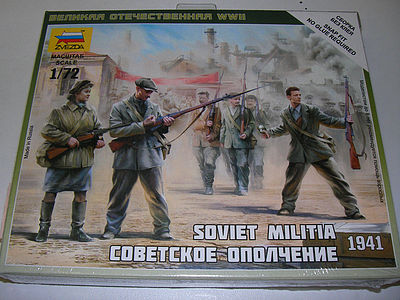 Zvezda Soviet Militia 1941 -- Plastic Model Military Figure Kit -- 1/72 Scale -- #6181