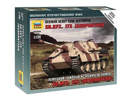 Zvezda German SdKfz Jagdpanther Plastic Model Military Vehicle Kit 1/100 Scale #6183