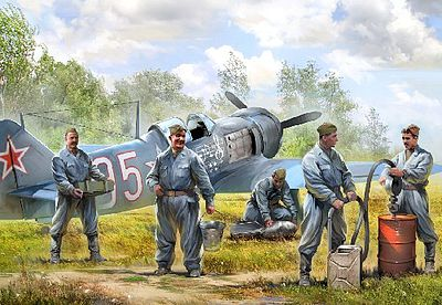 1//72 WW2 Soviet Air Force Ground Crew FIGURES SET Zvezda 6187