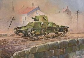 Zvezda British Matilda Mk I Light Tank (Snap) Plastic Model Tank Kit 1/100 Scale #6191