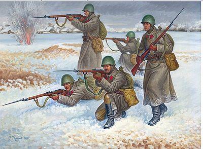 Zvezda #6199-1:72 Soviet Ski Troops  WWII
