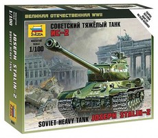 Zvezda Soviet Joseph Stalin 2 Tank Plastic Model Military Vehicle Kit 1/100 Scale #6201
