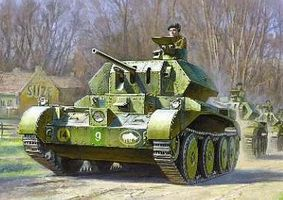 Zvezda British Crusader Mk IV Tank Kit 1/100 Scale Plastic Model Military Vehicle #6227