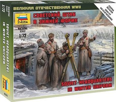 Zvezda Soviet Headquarters Crew Plastic Model Military Figure Kit 1/72 Scale #6231