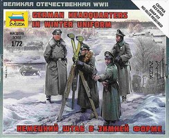 Zvezda WWII German Headquarters Crew Plastic Model Military Figure Kit 1/72 Scale #6232
