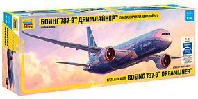 Zvezda Boeing 787-9 Dreamliner Long Fuselage Version Plastic Model Airplane Kit 1/144 Scale #7021