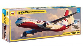 Zvezda Tupolev TU204-100 Plastic Model Airplane Kit 1/144 Scale #7023