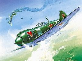 Zvezda WWII LA5 FN Soviet Fighter Plastic Model Airplane Kit 1/72 Scale #7203