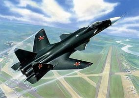 Zvezda Sukhoi Su47 Berkut Fighter Plastic Model Airplane Kit 1/72 Scale #7215