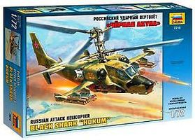 Zvezda Kamov KA-50 Hokum Helicopter Plastic Model Helicopter Kit 1/72 Scale #7216