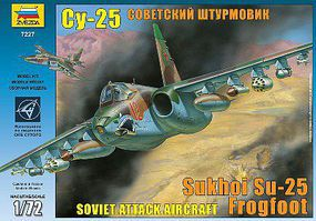 Zvezda Sukhoi SU-25 Frogfoot 1/72 Scale Plastic Model Airplane #7227