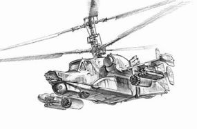 Zvezda Kamov KA50 SH Night Hunter Helicopter Plastic Model Helicopter Kit 1/72 Scale #7272