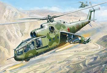 Zvezda Mil Mi-24A Hind Plastic Model Helicopter Kit 1/72 Scale #7273