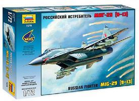 Zvezda MiG-29S (9-13) Russian Fighter Plastic Model Airplane Kit 1/72 Scale #7278