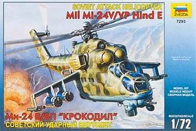 Zvezda Mil Mi24V/VP Hind E Soviet Attack Helicopter Plastic Model Helicopter Kit 1/72 Scale #7293