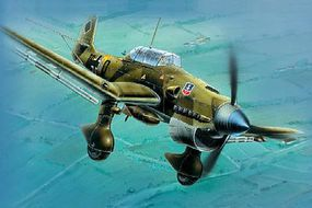 Zvezda Ju87B Stuka Bomber (Snap) (New Tool) Plastic Model Airplane Kit 1/72 Scale #7306