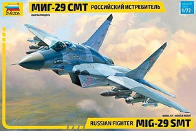 Zvezda Russian MiG29SMT Fighter Plastic Model Airplane Kit 1/72 Scale #7309