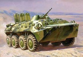 Zvezda BTR80 Russian Armored Vehicle Plastic Model Peraonnel Carrier Kit 1/100 Scale #7401