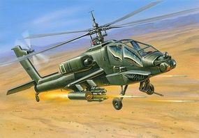 Zvezda AH64 Apache US Attack Helicopter Plastic Model Helicopter Kit 1/144 Scale #7408