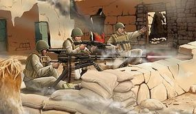 Zvezda Modern Soviet Machine Gun UTES w/Crew (Snap) Plastic Model Military Figure 1/72 #7411