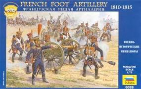 Zvezda French Foot Artillery 1810-15 Plastic Model Military Figure 1/72 Scale #8028