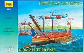 Zvezda Roman Trireme Ship 1/72 Scale Plastic Model Military Ship #8515