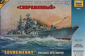 Zvezda RUSSIAN DESTROYER SOVREMENNY 1/700 Scale Plastic Model Military Ship #9054