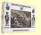 American Revolution- British Grenadiers (16) -- Plastic Model Military Figure -- 1/32 Scale -- #8