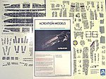 Battlestar Galactica BS75 Armor Aztec Decals -- Plastic Model Spaceship Decals -- 1/4105 -- #147
