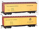 40' Wood Reefer 2-Pack - Kit - Fruit Growers Express -- HO Scale Model Train Freight Car -- #1217