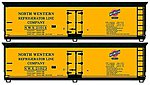 40' Wood Reefer North Western -- HO Scale Model Train Freight Car Kit -- #1226