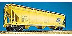 47' 3-Bay Covered Hopper Kit Chicago & North Western -- HO Scale Model Train Freight Car -- #2006