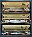 47' 3-Bay Center-Flow Covered Hopper 3-Pack Kit - CSX -- HO Scale Model Train Freight Car -- #20998