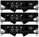USRA Twin Hopper P&LE (3 pack) -- HO Scale Model Train Freight Car Set -- #28174