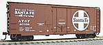 40' AAR Plug Door Box Car Kit - Santa Fe -- HO Scale Model Train Freight Car -- #3101