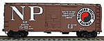 40' Single-Door Steel Boxcar Kit Northern Pacific -- HO Scale Model Train Freight Car -- #3522
