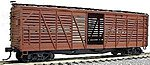 40' Wood Stock Car - Kit (Plastic) - Undecorated -- HO Scale Model Train Freight Car -- #4700