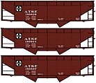 50 Ton Offset Hopper ATSF -- HO Scale Model Train Freight Car -- #8076