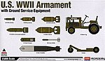 US WWII Armament with Ground Service Equipment -- Plastic Model Airplane Kit -- 1/48 Scale -- #12291