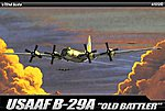 B29A Old Battler USAAF Aircraft -- Plastic Model Airplane Kit -- 1/72 Scale -- #12517