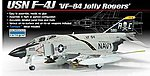 F-4J VF-84 Jolly Rogers -- Plastic Model Airplane Kit -- 1/72 Scale -- #12529
